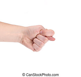 Fig hand sign Isolated on a white background
