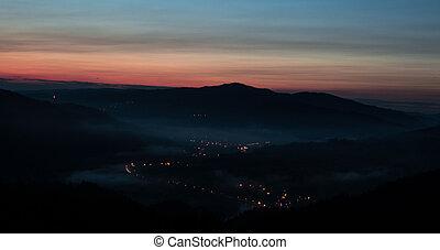 Kroscienko - Palnica, widok, miasto, dunajec