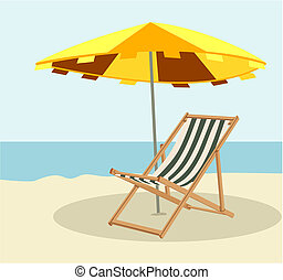 Lounger - Hidden in the shade from the sun lounger on the...