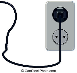Outlet - Plug in the socket with the bulb wire vvide