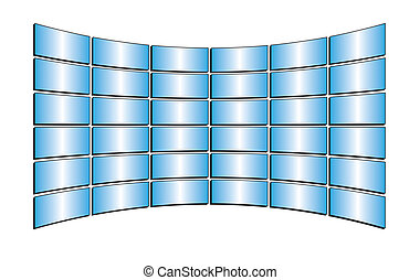 blue tv monitors with gradients