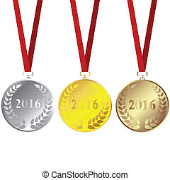 Set of 2016 medals