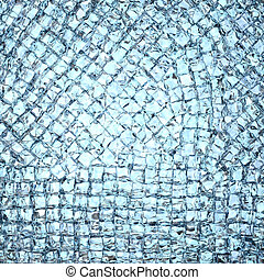 Background composed of many ice cubes. High resolution 3D...