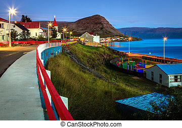 Fishing town - A small fishing town of Patreksfjordur in...
