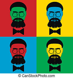 Pop art hipster icons