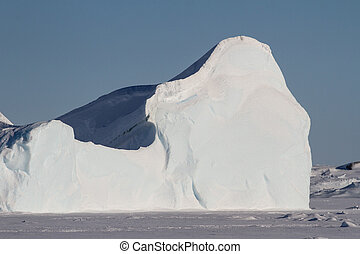 part of a large iceberg frozen in the Southern Ocean