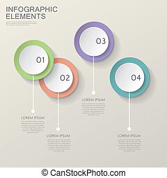colorful modern paper circle infographic elements