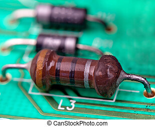 resistors and capacitors on the motherboard