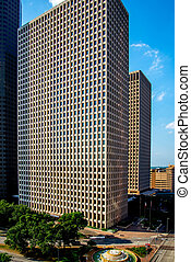 Buildings in downtown Houston