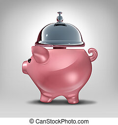 Bank Service - Bank service concept as a piggy bank shaped...