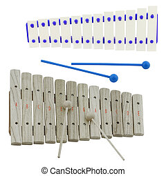 xylophone - The image of xylophone under the white...