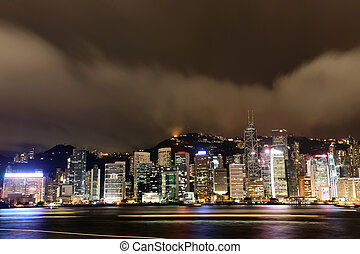 Hong Kong in the night