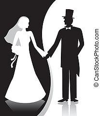 B&W wedding - Wedding couple
