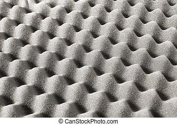 Foam packaging close up