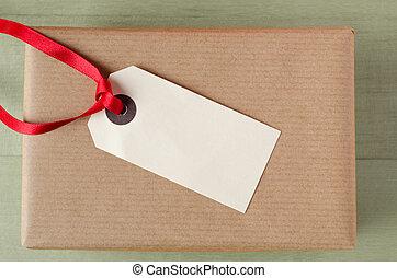 Label on Brown Paper Parcel