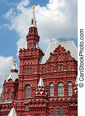 Building of Historical Museum on Red Square in Moscow,...