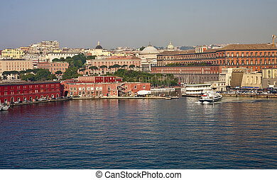 Harbor in Naples Italy - Ports and Ferries at the port of...