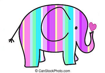 pastel colors stripes elephant - beautiful pastel colors...