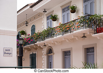 Panama City old casco viejo antiguo house