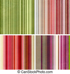 Four retro stripe patterns