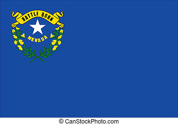 Nevada State Flag - The flag of the American state of Nevada