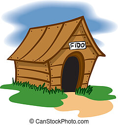 Doghouse - An Illustration of a Wooden Dog house