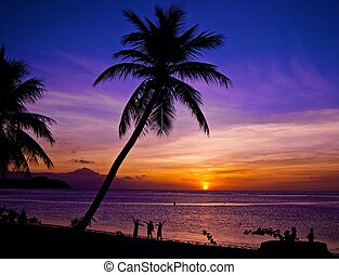 Guam/Sunset - Guam Sunset Tumon Bay/By James B Clark