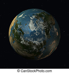 The Earth - 3D Render of the Planet Earth