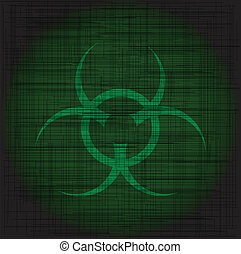 Bio Hazard Grunge - Bio hazard sign with a heavy green...