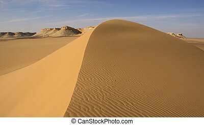 Sand pattern with shallow depth of field,Egypt - Sand...