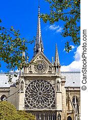 Paris - Paris, France, famous Notre Dame cathedral. UNESCO...