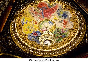 Paris - PARIS, August 4, 2014: Interior view of the Opera...