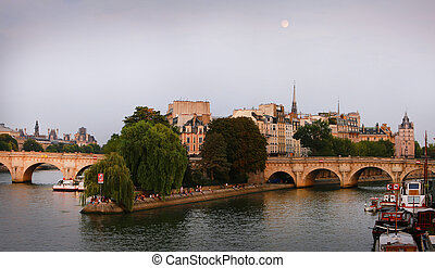 Cite island in Paris, France
