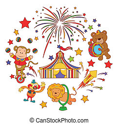 Funny and Cute Circus Parade set