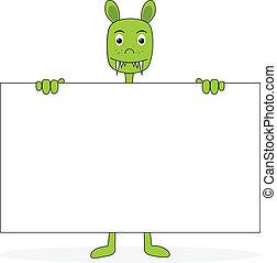 Cartoon with Placard
