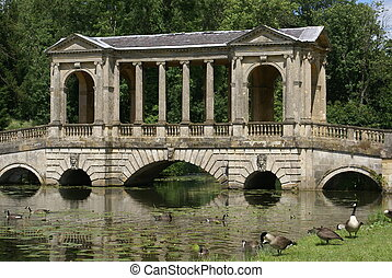 The Palladian Bridge, England - The Palladian Bridge in the...