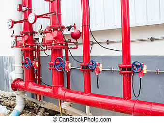 Pipes and Valves Inside Industrial Facility