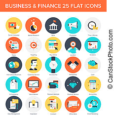 Business Icons. - Abstract vector collection of colorful...