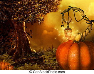 magical halloween background