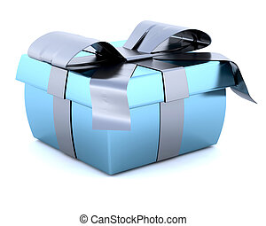 Christmas gift - 3D Render of a Christmas Gift Isolated on...