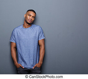 Cool african american guy - Portrait of a cool african...