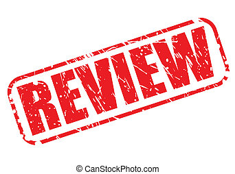 Review red stamp text on white
