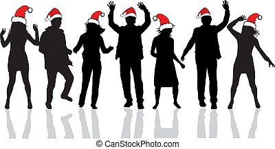 Clip Art Christmas Party Clipart christmas party illustrations and clip art 103304 stock illustrationby