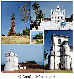 Collage of North and South Goa state popular travel...