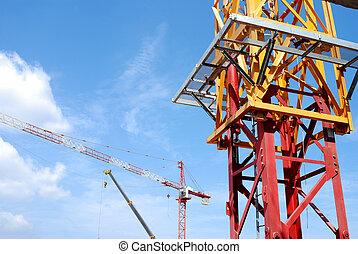 construction crane - Construction crane isolated on clear...
