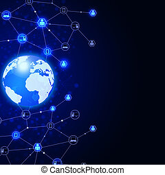 Abstract Global Communications - abstract network digital...