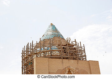 Turkmenistan - Architecture details of the dome of the...