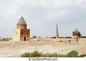 Turkmenistan - II Arslam Mausoleum, Tekesh Mausoleum, Kutlug...