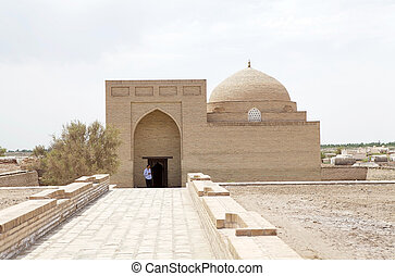Turkmenistan - Sayid Akhmed Mausoleum at the Konye-Urgench,...