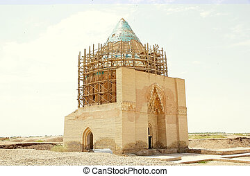 Turkmenistan - Tekesh Mausoleum at the Konye-Urgench,...